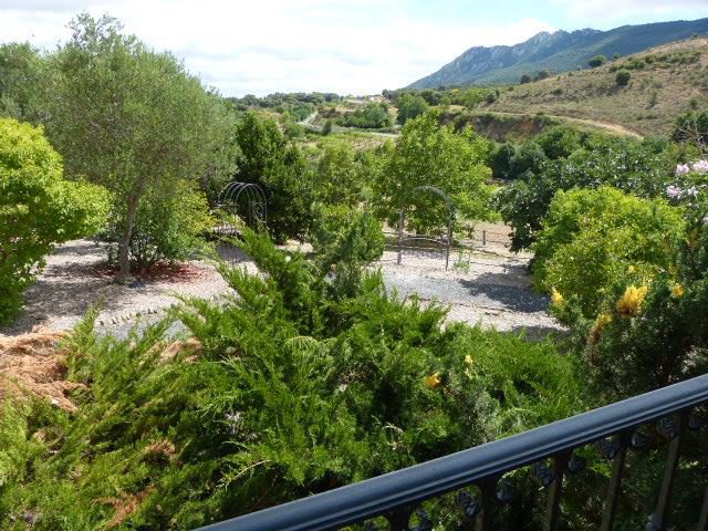 Jardín con vistas panorámicas Casa Cerio