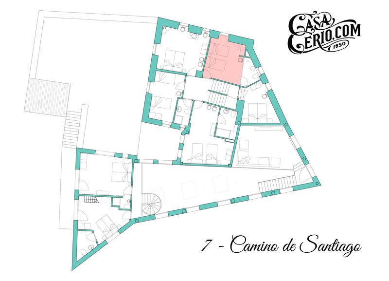 Casa Cerio - Casa Rural en Navarra - Habitaciones - Camino de Santiago