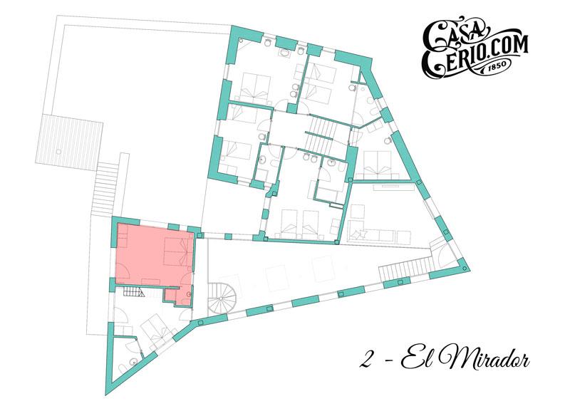 Casa Cerio - Casa Rural en Navarra - Habitaciones - El Mirador