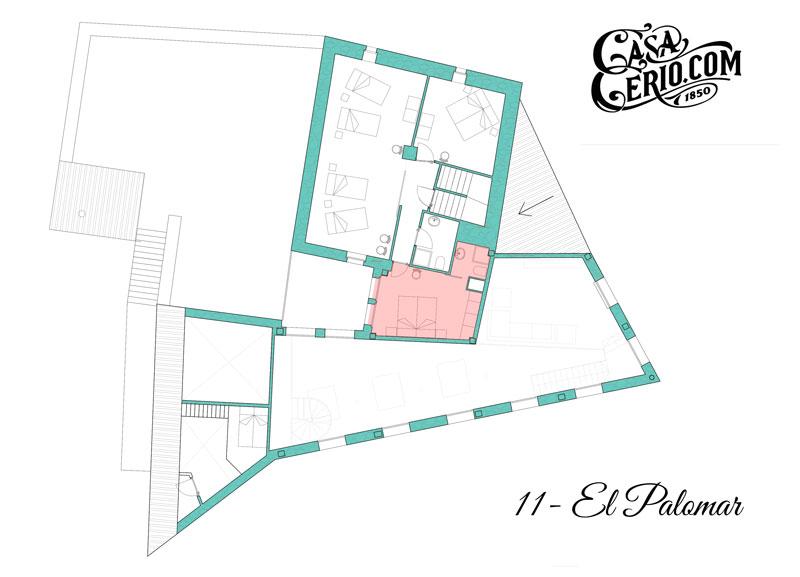 Casa Cerio - Casa Rural en Navarra - Habitaciones - El Palomar