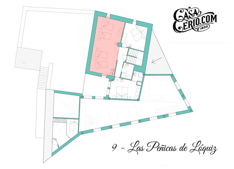 Casa Cerio - Casa Rural en Navarra - Habitaciones - Las Peñicas de Lóquiz