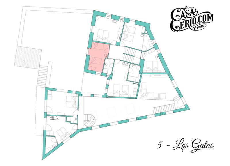 Casa Cerio - Casa Rural en Navarra - Habitaciones - Los Gatos