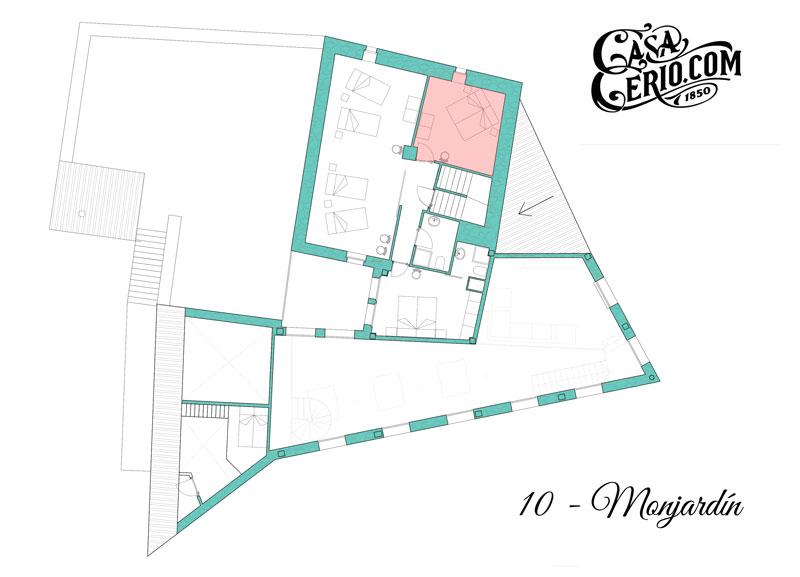 Casa Cerio - Casa Rural en Navarra - Habitaciones - Monjardín