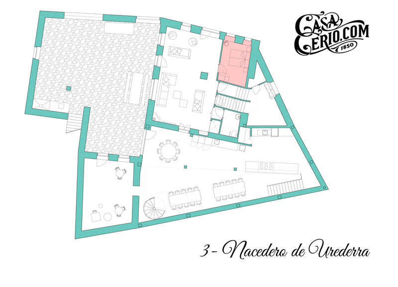 Casa Cerio - Casa Rural en Navarra - Habitaciones - Nacedero de Urederra