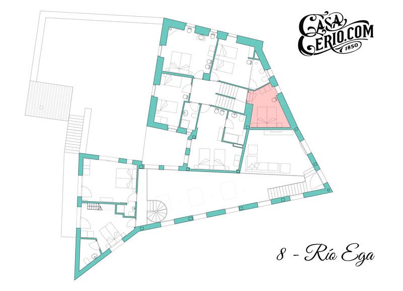 Casa Cerio - Casa Rural en Navarra - Habitaciones - Río Ega