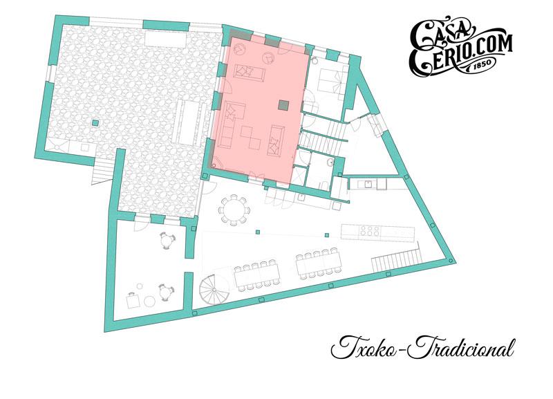 Casa Cerio - Casa Rural en Navarra - Habitaciones - Txoko-Tradicional