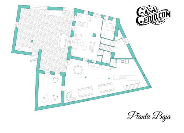 Casa Cerio - Casa rural en Navarra - Planos - Planta baja