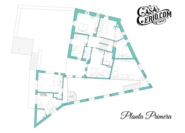 Casa Cerio - Casa rural en Navarra - Planos - Planta primera